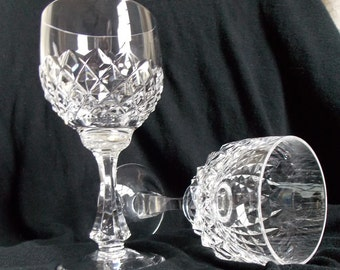 Vintage Peill and Putzler Crystal Wine Glasses, Set of Two