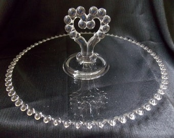 Imperial Candlewick Glass Sandwich Serving Tray