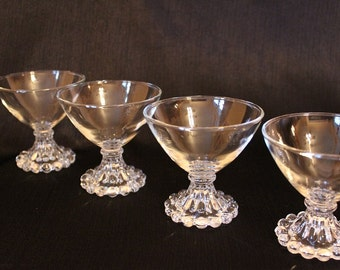 Anchor Hocking Boopie Champagne Glasses, Set of 4