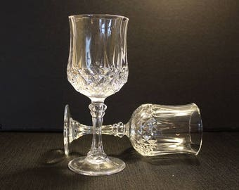 Cris D'Arques-Durand Longchamp Crystal Water Goblets, Set of Two