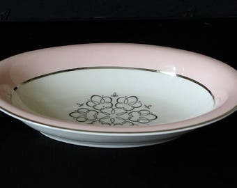 International China Pink Vegetable Serving Bowl