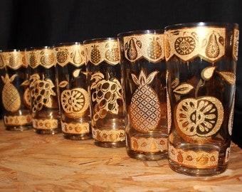 Culver Florentine Highball Cocktail Glasses, Set of 6