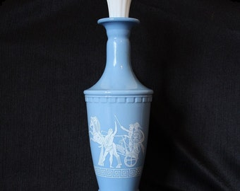 Jim Beam Blue Roman Greek Chariot Whiskey Bottle Decanter