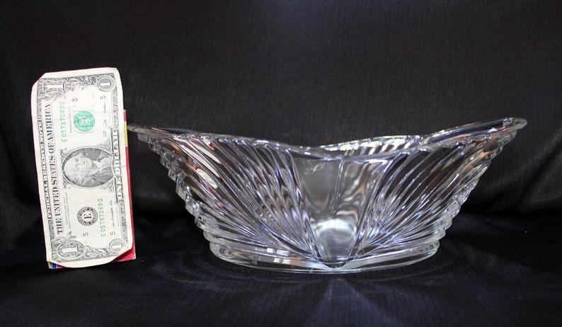Vintage Pressed Glass Centerpiece Bowl  Fruit Bowl  Candle Holder  Flower Holder  Home Decor  Cottage Chic