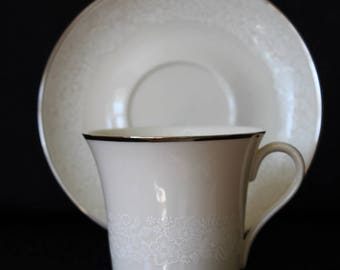 Gorham China  Bridal Bouquet Footed Cup and Saucer Set