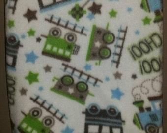 Fleece Train Blanket