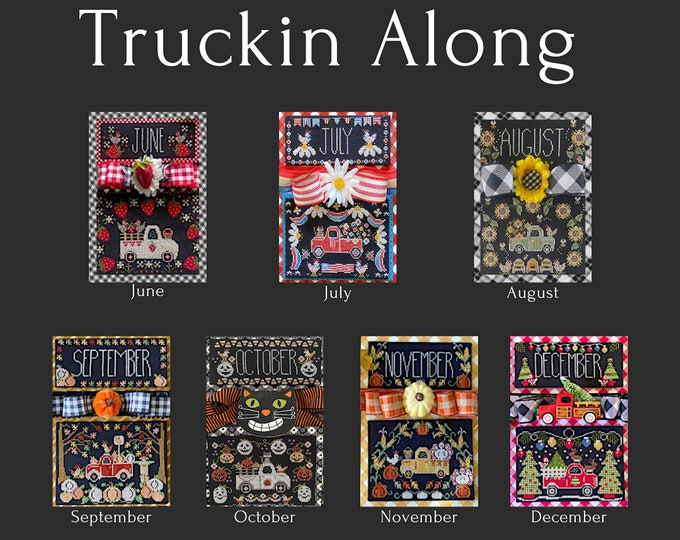 Exclusive - Truckin Along Series released by Priscilla & Chelsea of Stitching with the Housewives