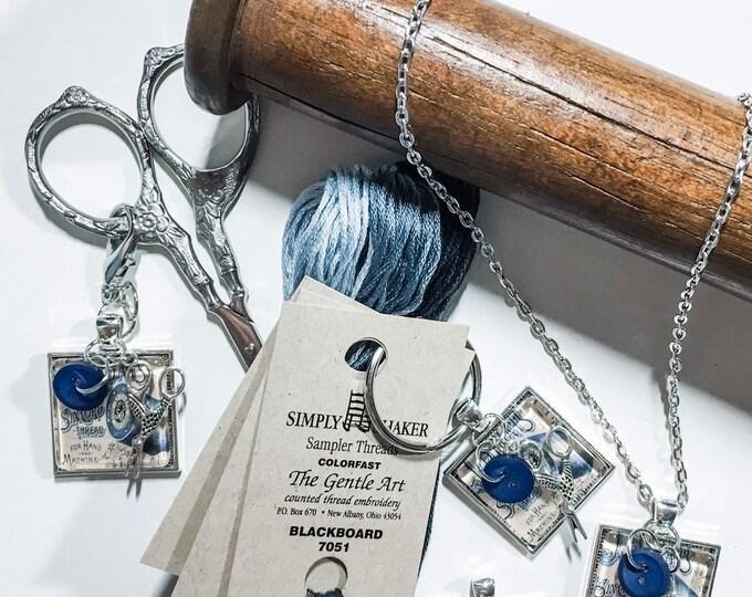 JP Coats Vintage Ad - Thread Keep - Scissor Keep - Needle Keep - Necklace Keep