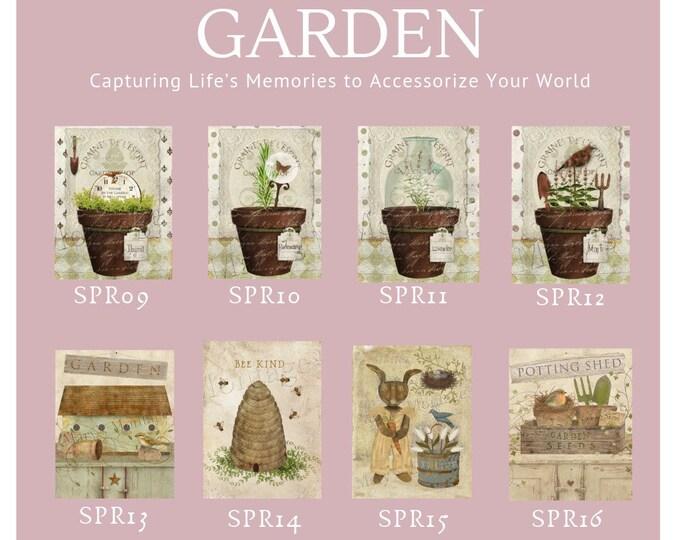 Garden Options -  Thread Keep - Scissor Keep - Needle Keep - Necklace Keep