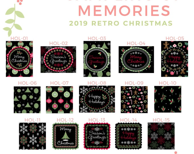 Retro Christmas Holiday Designs -  Thread Keep - Scissor Keep - Needle Keep - Necklace Keep - Zipper Keep