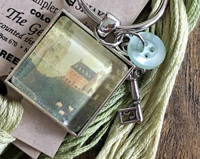 Farm House -  Thread Keep - Scissor Keep - Needle Keep - Necklace Keep