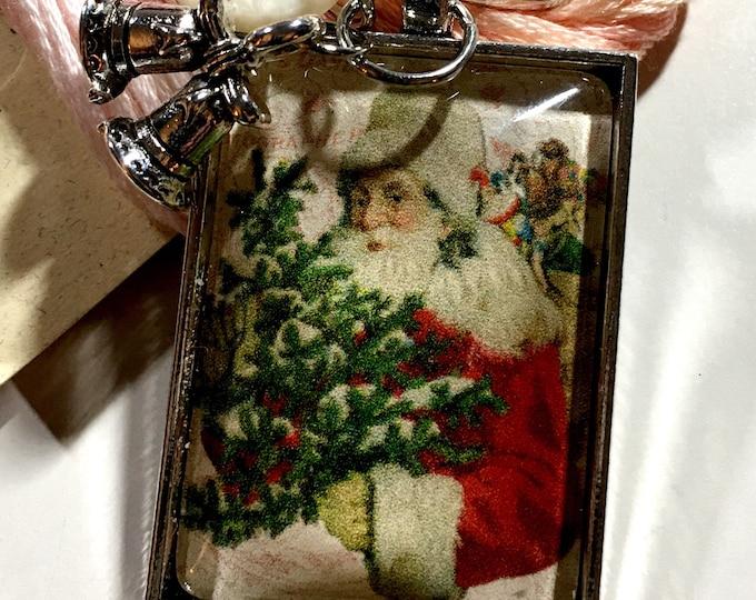 Santa #1 Twelve Days of Santa -  Thread Keep - Scissor Keep - Needle Keep - Necklace Keep - Zipper Keep