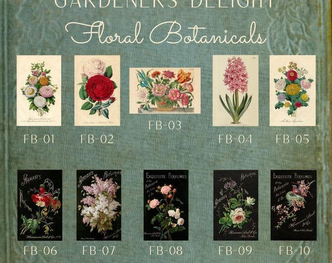 Garden Delights -  Thread Keep - Scissor Keep - Needle Keep - Necklace Keep