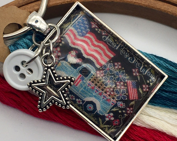 Exclusive - Long May She Wave - Patriotic Series released by Priscilla & Chelsea of Stitching with the Housewives