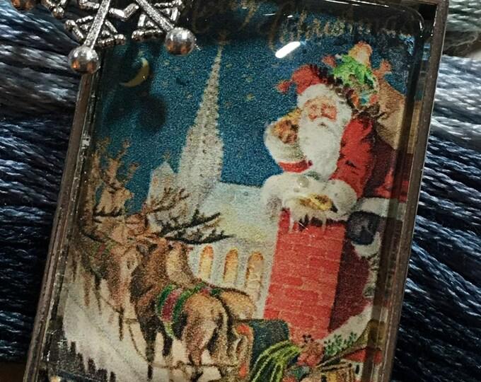 Santa #11 Twelve Days of Santa Series -  Thread Keep - Scissor Keep - Needle Keep - Necklace Keep - Zipper Keep