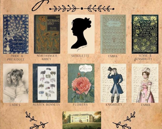Book Lovers Series - Jane Austen -  Thread Keep - Scissor Fob - Needleminder - Zipper Pull - Necklace