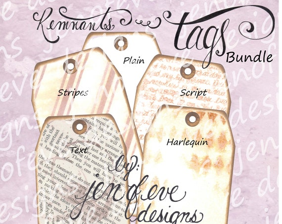Build ~A~ Bellishment Remnants ~ Tags Bundle #4