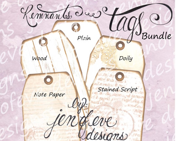 Build ~A~ Bellishment Remnants ~ Tags Bundle #1