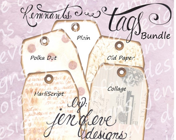 Build ~A~ Bellishment Remnants ~ Tags Bundle #2