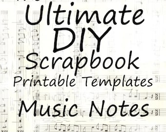 The Ultimate Diy Scrapbook Printable Templates Collage Plain Etsy