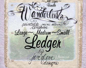 SMALL Keepsake Box /& Mini Album Printable Template in Checker and Plain