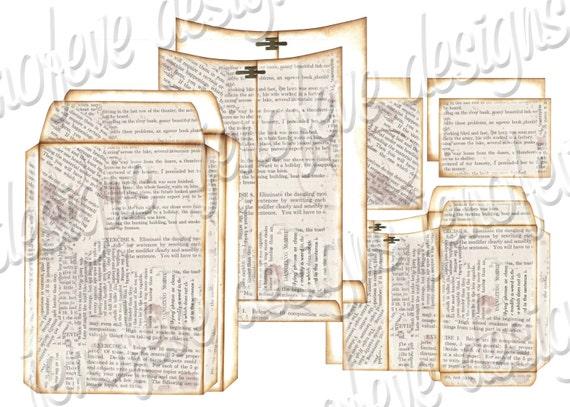 6x9 Printable Envelope Album Text & Plain Templates