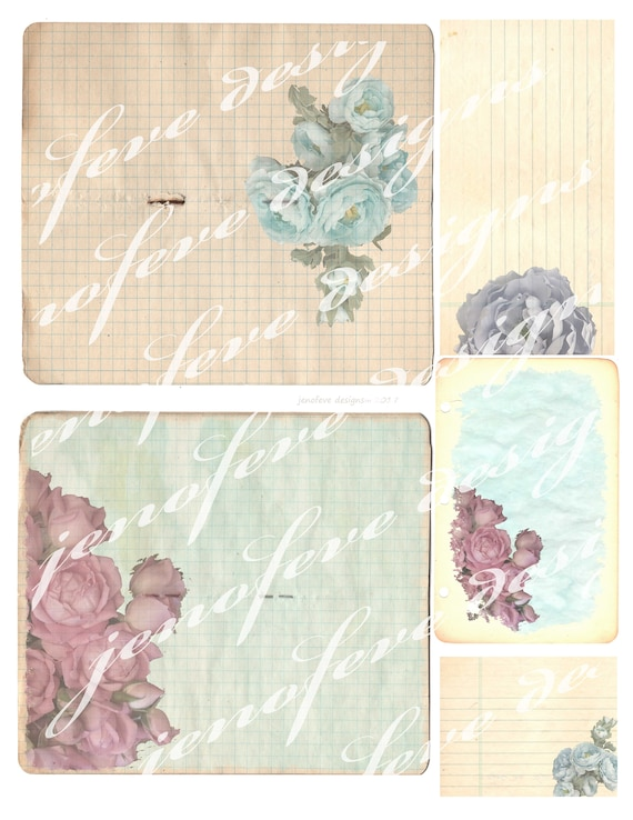 Build ~A~ Bellishment Set#3 Vintage Notebook
