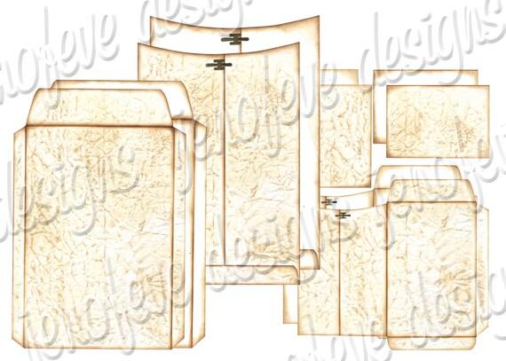 6x9 Printable Envelope Album Old Paper & Plain Templates