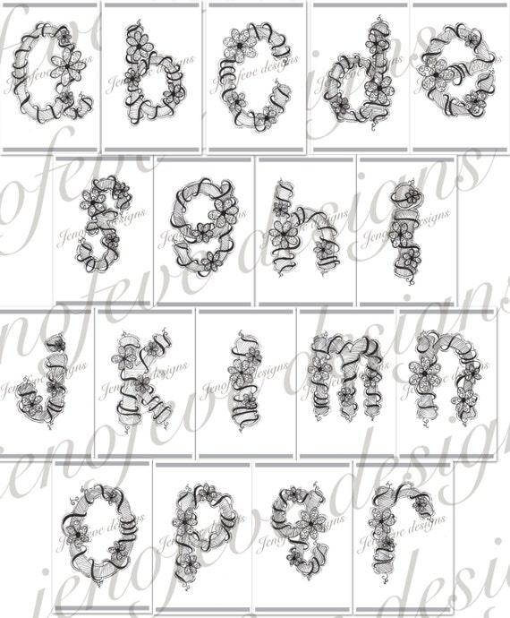Hand Drawn Alphabet Bundle digital download Fun and Whimsical