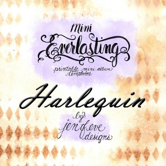 Mini Everlasting Printable Mini album Template in Harlequin and PLAIN