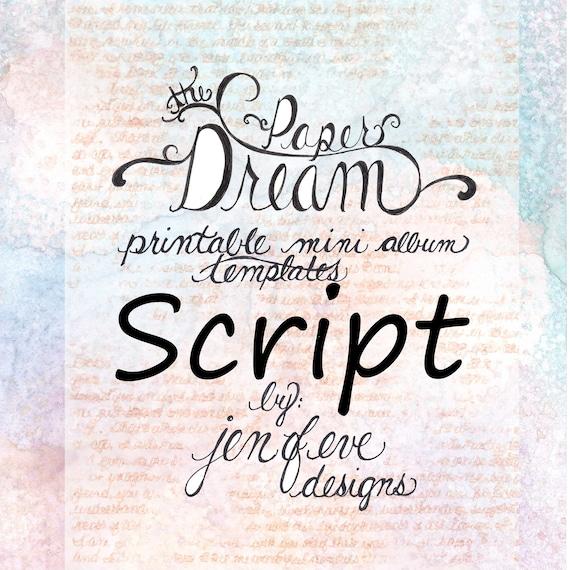 The Paper Dream Printable Mini Album Templates in Script and Plain