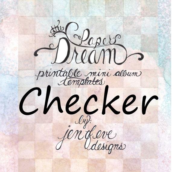 The Paper Dream Printable Mini Album Templates in Checker and Plain