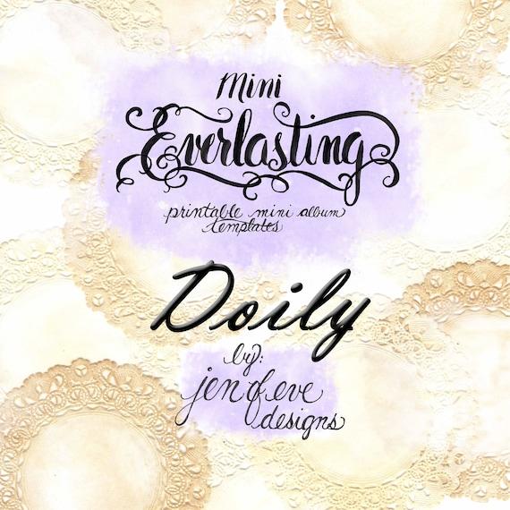 Mini Everlasting Printable Mini album Template in Doily and PLAIN