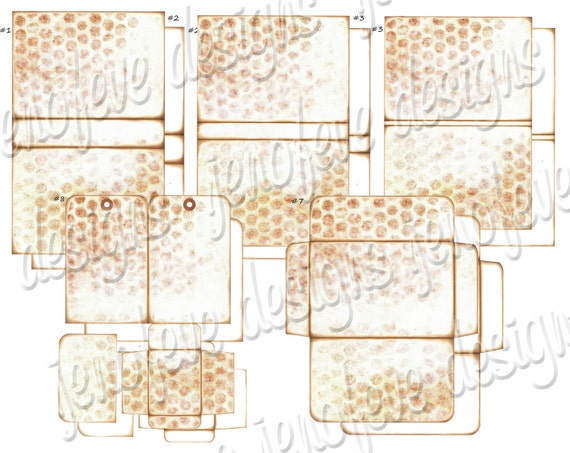 Stack the Pages Printable Mini Album Distressed Bubble Wrap & Plain Templates