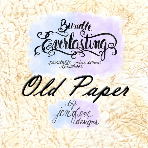 Everlasting & Mini Everlasting Printable Mini album Template Bundle in Old Paper and PLAIN