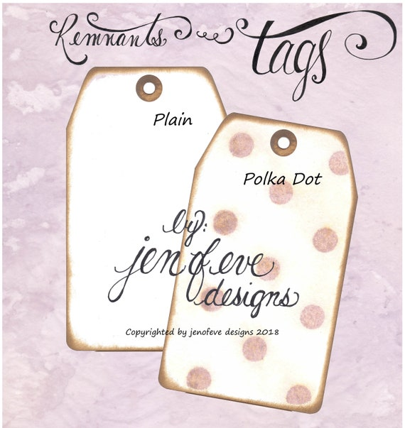 Build ~A~ Bellishment Remnants ~ Tags in Polka Dots & Plain