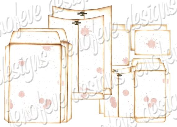 6x9 Printable Envelope Album Splats & Plain Templates