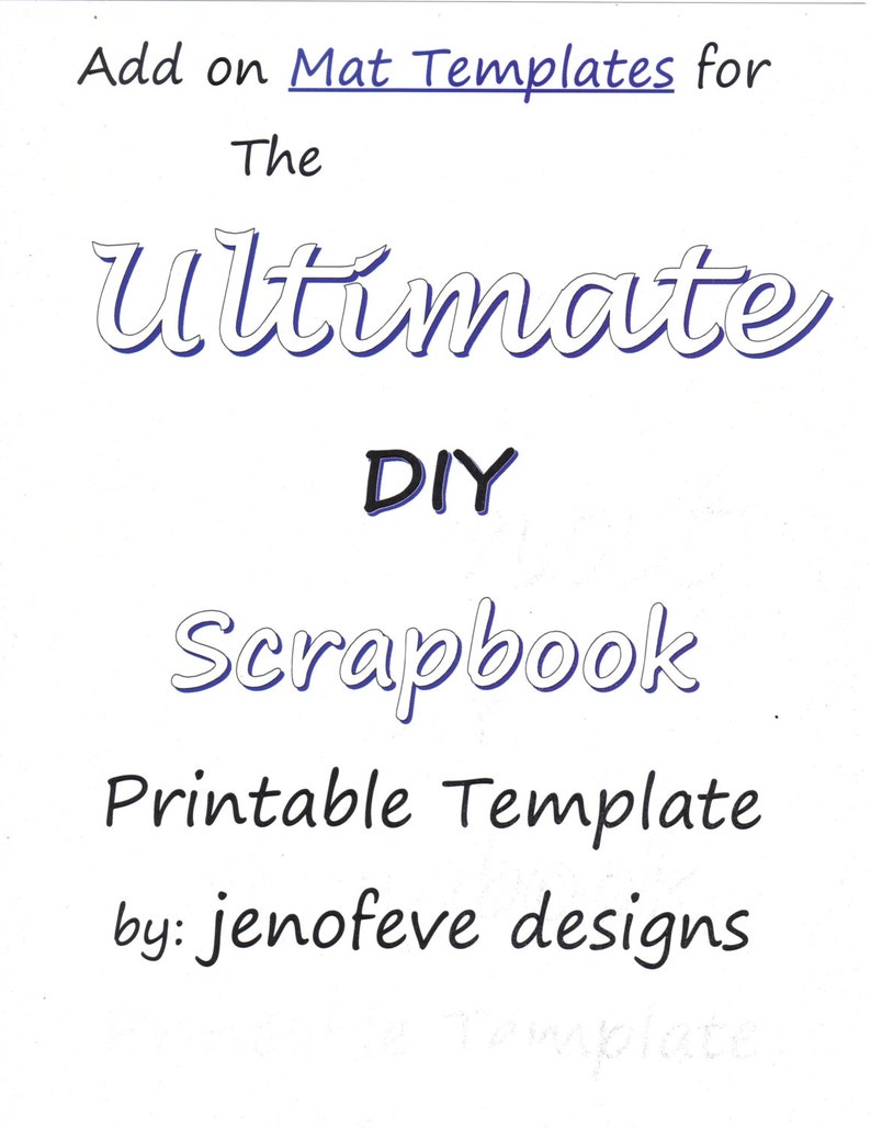 photo regarding Printable Photo Mat Templates referred to as The Supreme Do it yourself Sbook Printable Templates Insert Upon Mats