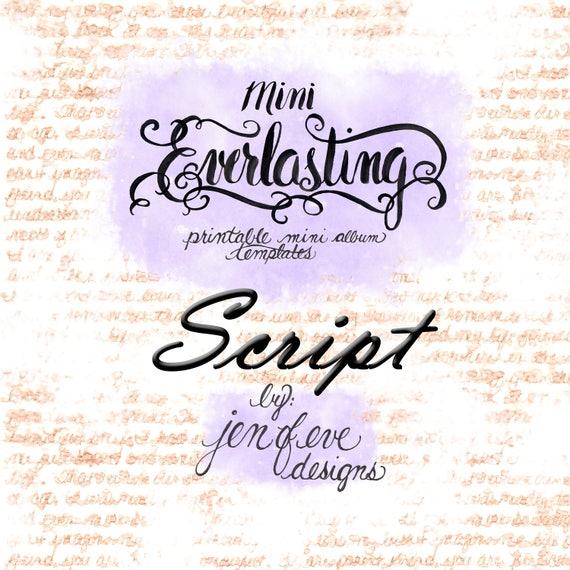 Mini Everlasting Printable Mini album Template in SCRIPT and PLAIN