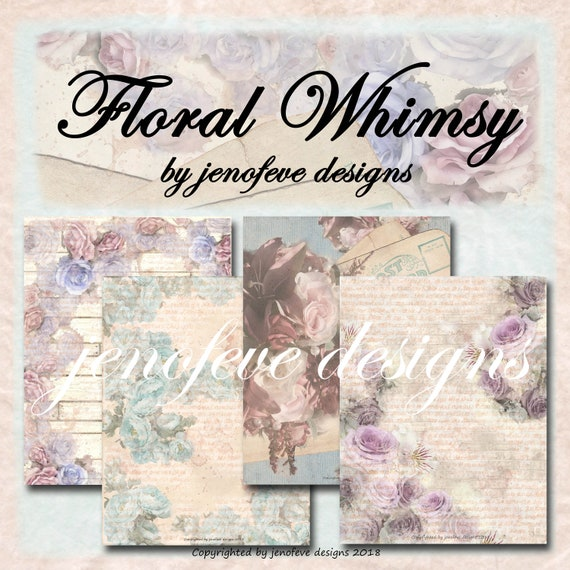 Floral Whimsy~Digital Paper Collection