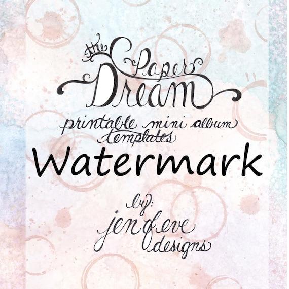 The Paper Dream Printable Mini Album Templates in Watermark and Plain