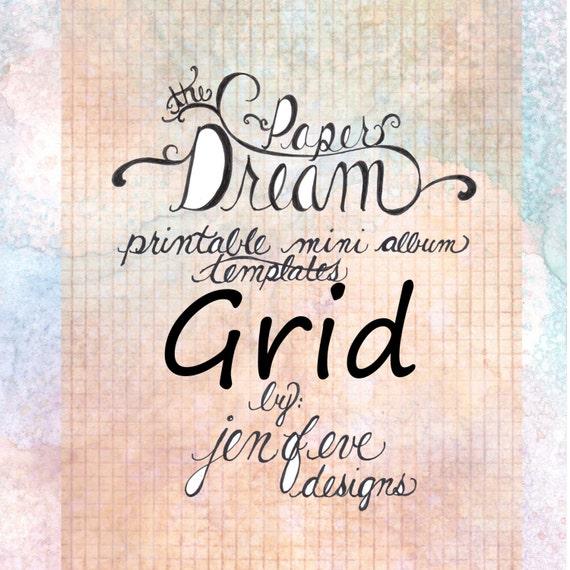 The Paper Dream Printable Mini Album Templates in Grid and Plain