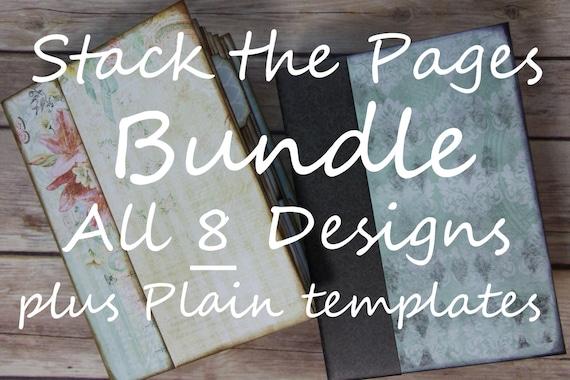 BUNDLE Stack the Pages Printable Mini Album Templates ALL 8 Designs + Plain