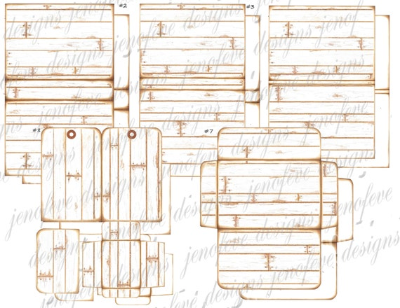Stack the Pages Printable Mini Album Wood Plank & Plain Templates