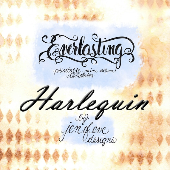 Everlasting Printable Mini album Template in Harlequin and PLAIN