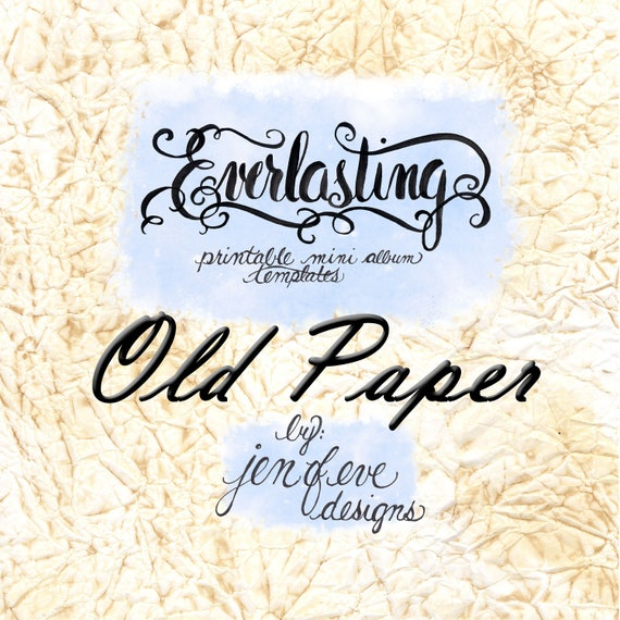 Everlasting Printable Mini album Template in Old Paper and PLAIN