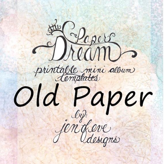 The Paper Dream Printable Mini Album Templates in Old Paper and Plain