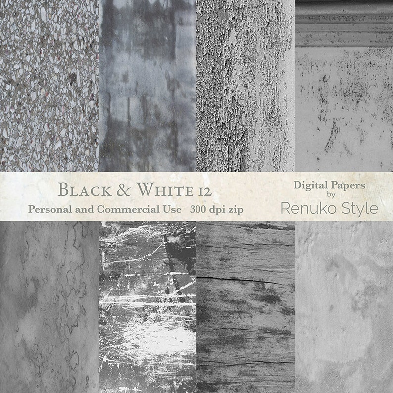 Black and white no 12 digital textures photoshop backgrounds