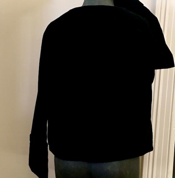 Black velvet jacket / vintage velvet jacket / 195… - image 10