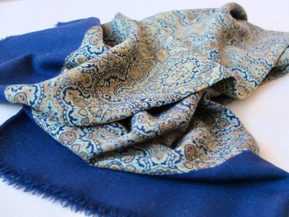 Man's wool scarf / Father's day / 1940s Italian wo